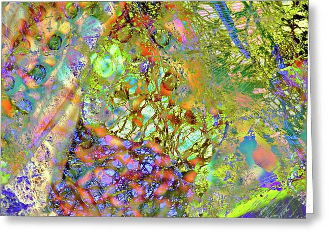 Abstract Polarised Light Micrographs Greeting Card