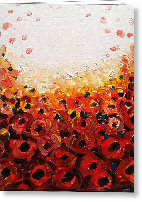 Abstract Poppies 2 Greeting Card