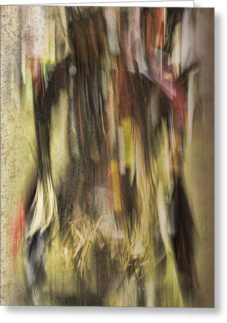Abstract Pow Wow Dancer Greeting Card by Thomas Young