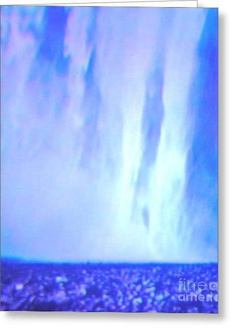 Abstract Rain Greeting Card