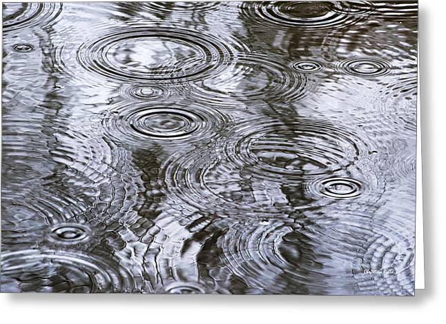 Abstract Raindrops Greeting Card by Christina Rollo