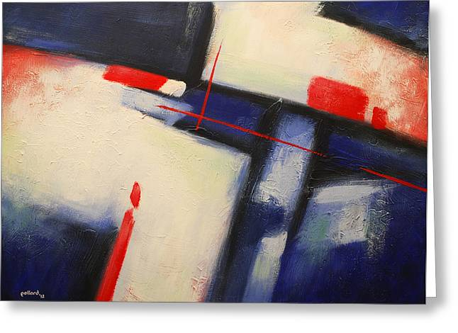 Abstract Red Blue Greeting Card