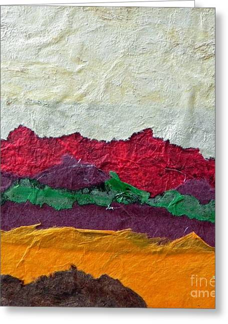 Abstract Red Hills Greeting Card
