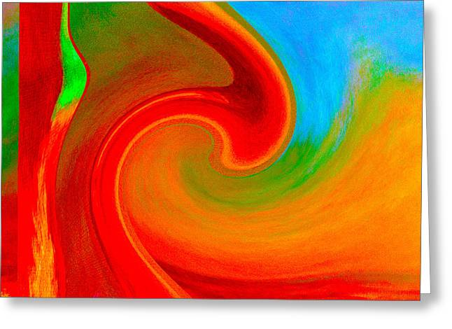 Abstract Red Splendor Greeting Card