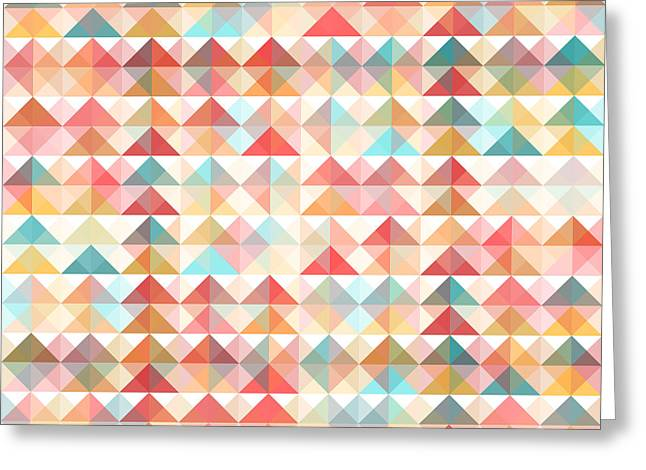 Abstract Retro Geometric Background Greeting Card