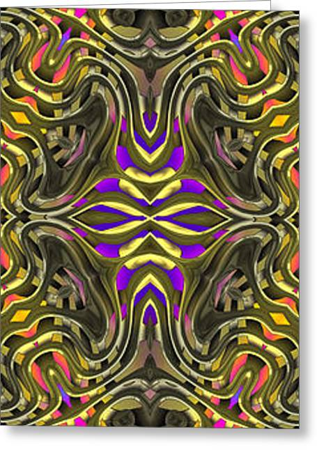 Abstract Rhythm - 31 Greeting Card by Hanza Turgul