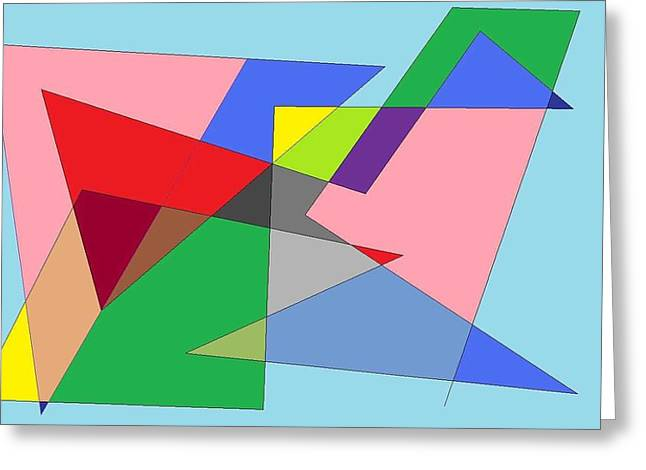 Abstract Greeting Card by Ron Davidson