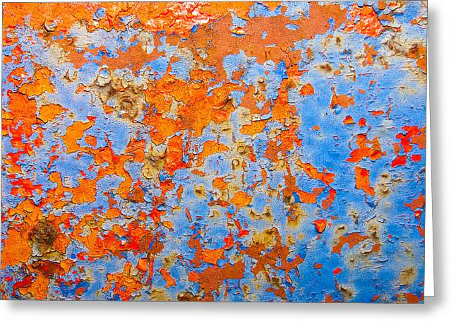 Abstract - Rust And Metal Series Greeting Card by Mark Weaver