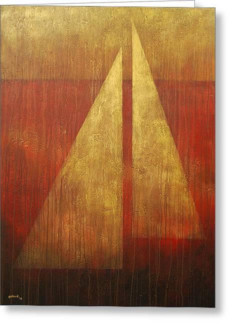 Abstract Sail Greeting Card