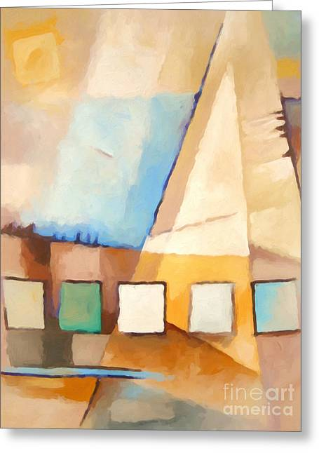 Abstract Sail Greeting Card by Lutz Baar