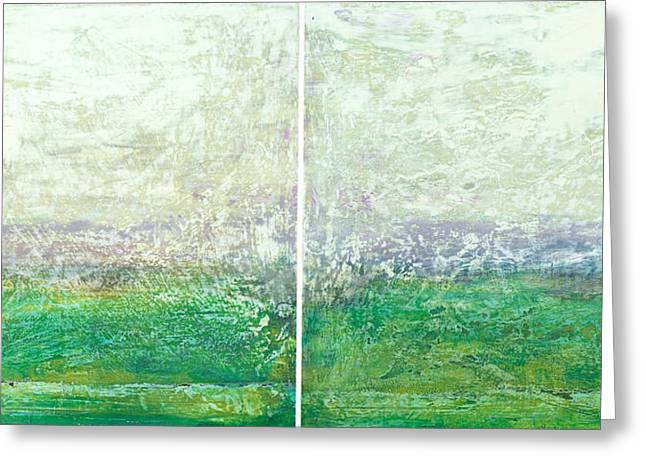 Abstract Scape 12 Diptych Greeting Card
