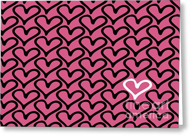 Abstract Seamless Heart Pattern Greeting Card