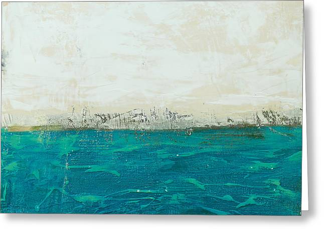 Abstract Seascape 02/14b Greeting Card by Filippo B