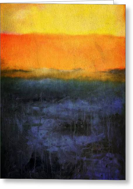Abstract Shoreline 4.0 Greeting Card by Michelle Calkins