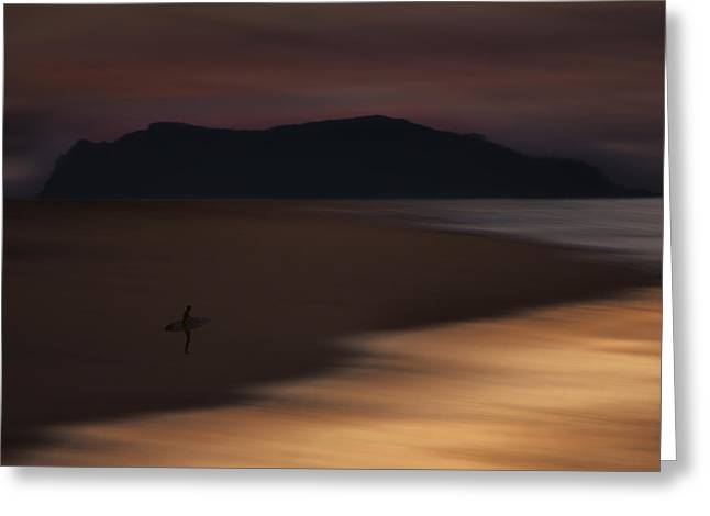 Greeting Card featuring the photograph Abstract Shoreline 73a0160 by David Orias