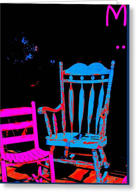 Abstract Sitdown And M Greeting Card by Kathy Barney