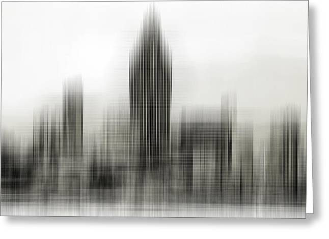 Abstract Skyline Greeting Card by Pedro Fernandez