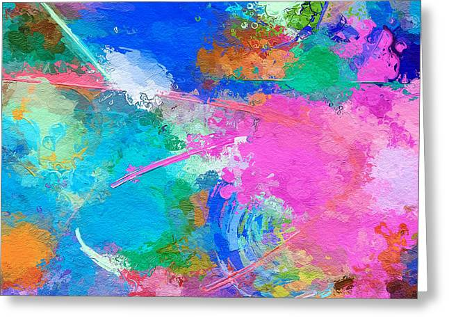 Abstract Space 2 Greeting Card by Yury Malkov