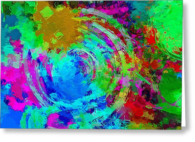 Abstract Space 3 Greeting Card by Yury Malkov