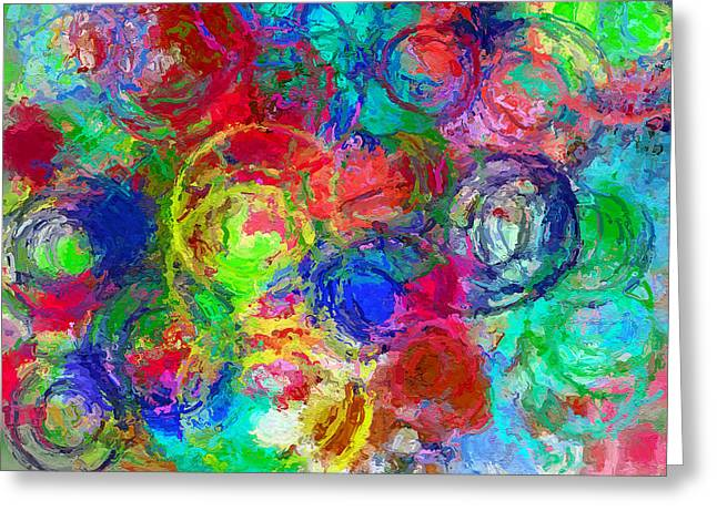 Abstract Space 4 Greeting Card by Yury Malkov