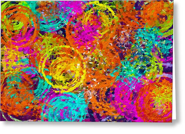 Abstract Space 6 Greeting Card by Yury Malkov