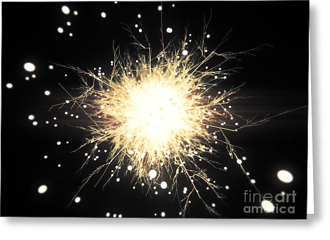 Abstract Sparkle Greeting Card by Pixel Chimp
