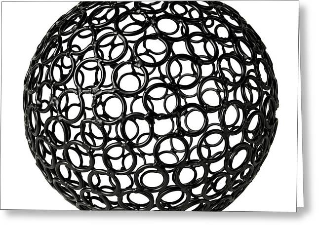 Abstract Sphere Greeting Card by Tony Cordoza