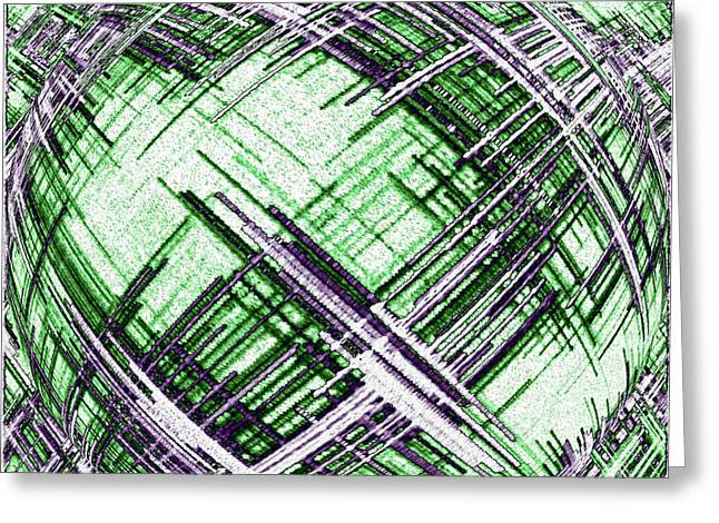 Abstract Spherical Design Greeting Card