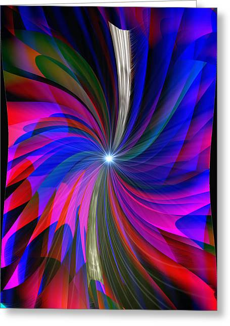 Abstract - Spinner Greeting Card by Michael Rucker