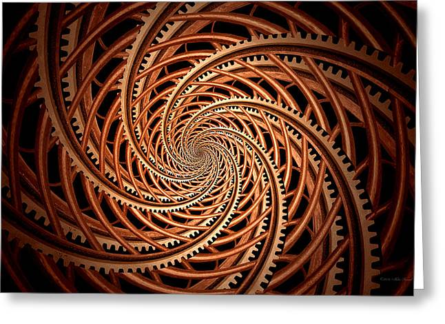 Abstract - Spiral - Mental Roller Coaster Greeting Card