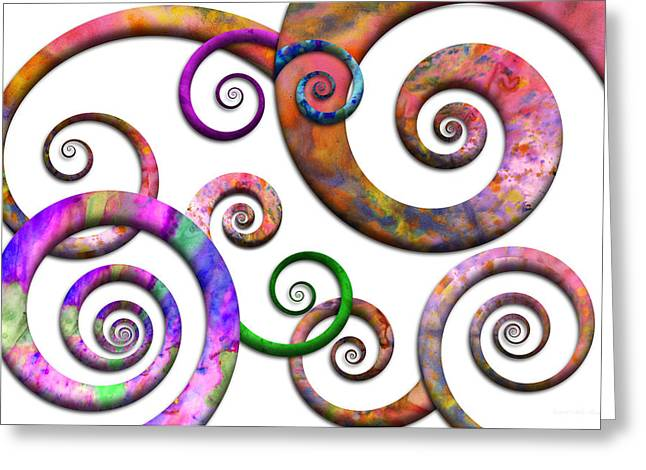 Abstract - Spirals - Planet X Greeting Card