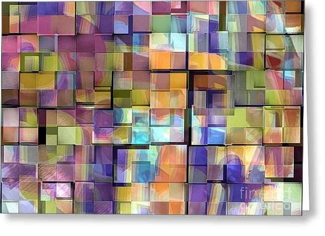 Abstract  Squares Greeting Card