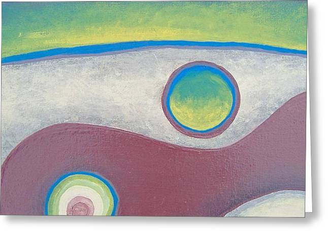Greeting Card featuring the painting Abstract by Steve  Hester