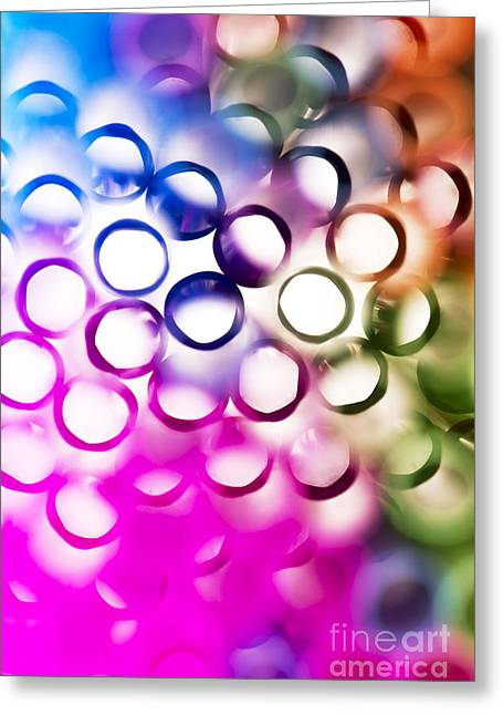 Abstract Straws 2 Greeting Card by Jane Rix
