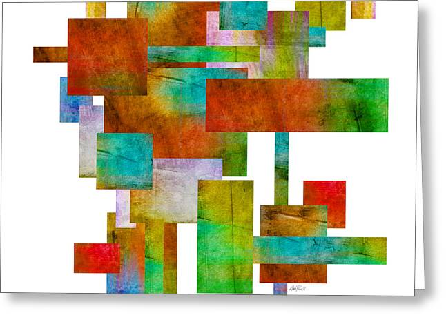 Abstract Study 21 Abstract -art Greeting Card by Ann Powell