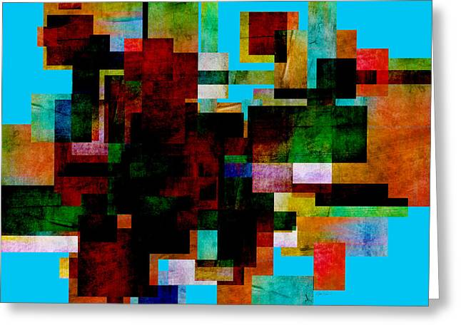 Abstract Study 30 - Abstract Art Greeting Card