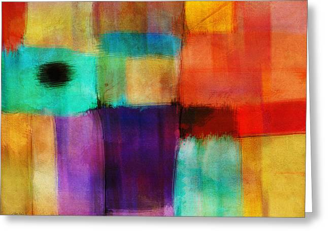 Abstract Study Three By Ann Powell Greeting Card