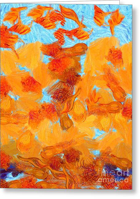 Abstract Summer Greeting Card by Pixel Chimp