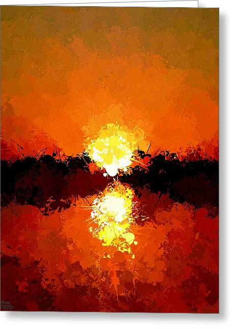Abstract Sunset On The Sea Greeting Card