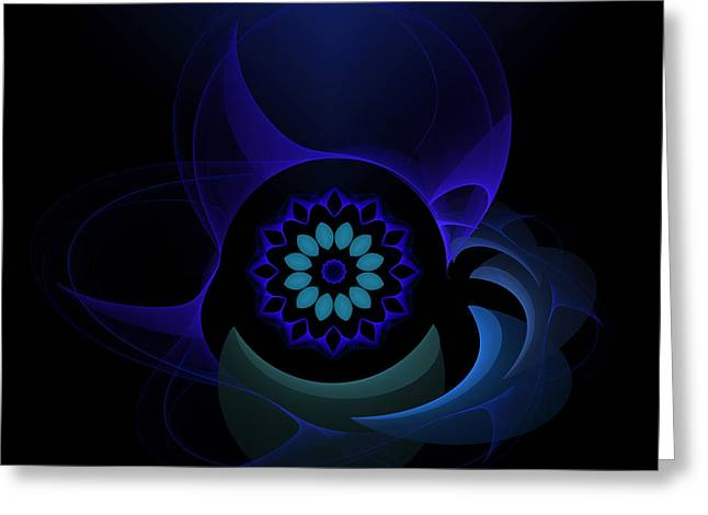 Greeting Card featuring the digital art Abstract Surprise by Hanza Turgul