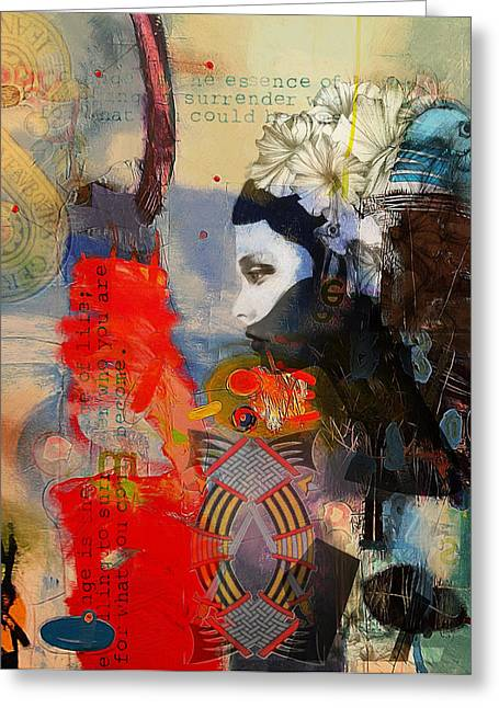 Abstract Tarot Art 011 Greeting Card by Corporate Art Task Force