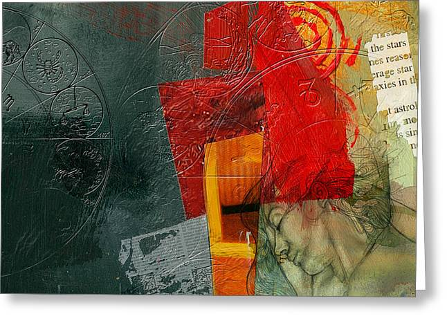 Abstract Tarot Card 004 Greeting Card by Corporate Art Task Force