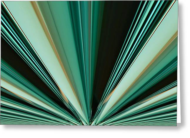 Abstract - Teal - Aqua - Six Greeting Card by Kathy K McClellan