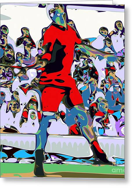 Abstract Tennis Greeting Card by Chris Butler