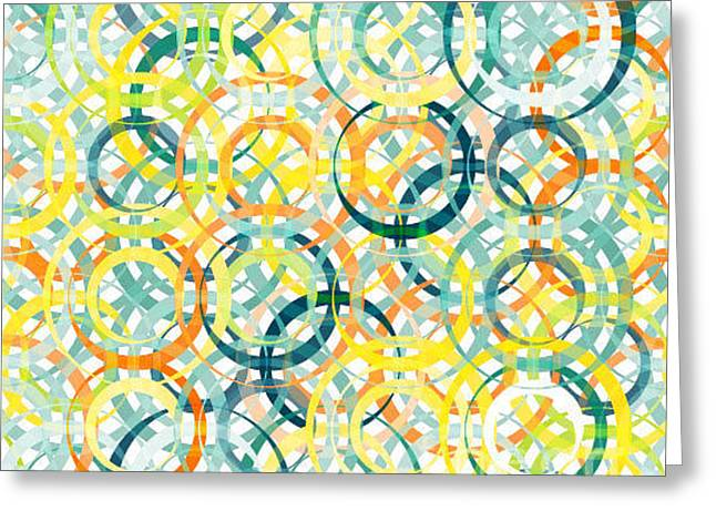 Abstract Textured Geometric Seamless Greeting Card
