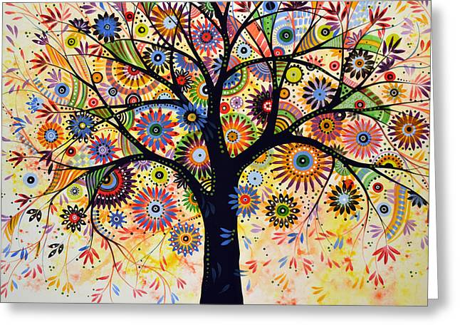 Abstract Tree Painting ... Life Giver Greeting Card