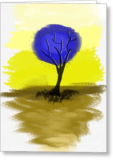Abstract Tree Painting Greeting Card by Art Photography