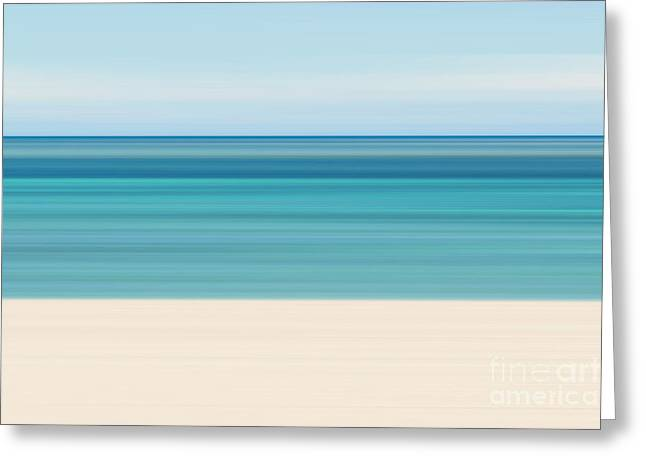 Abstract Tropical Beach Greeting Card