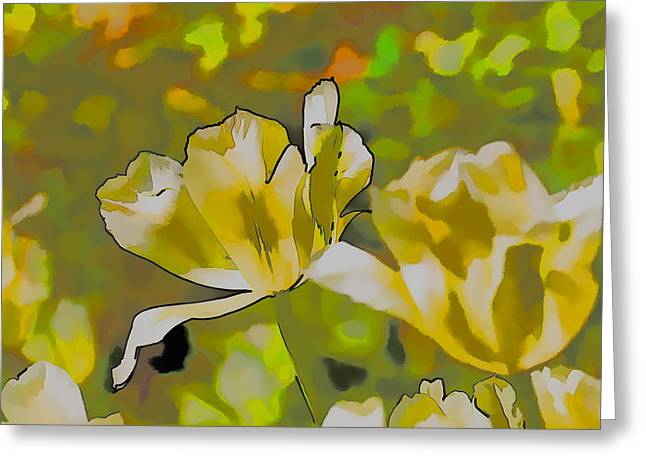 Abstract Tulip Greeting Card