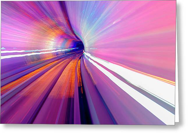 Abstract Underground Railway, Pudong Greeting Card